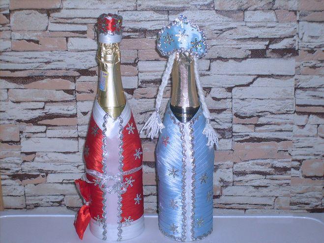 Украшение шампанского на новый