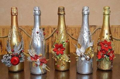 украшаем шампанское